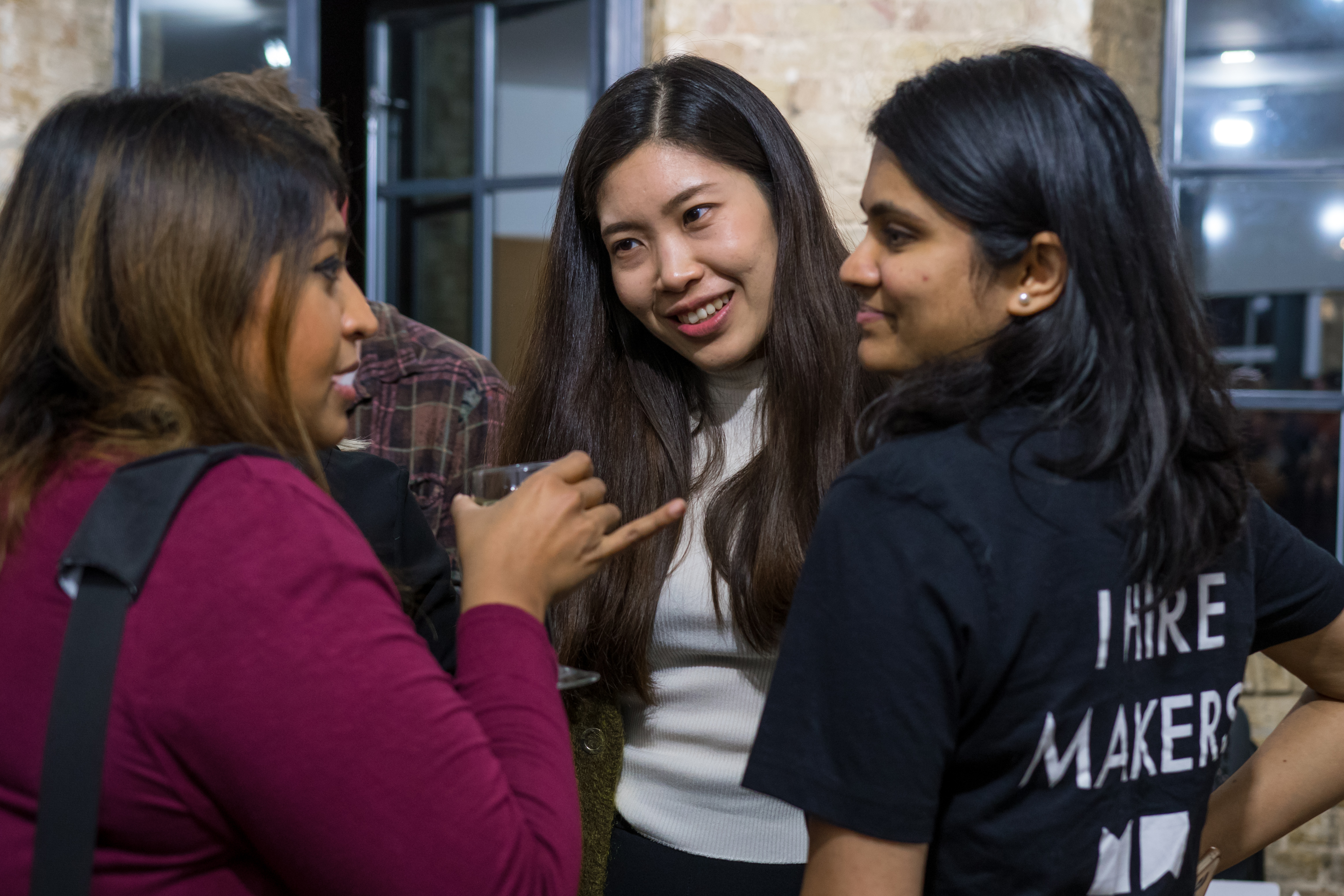 Women chatting at Makers event